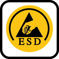 ESD dissipative according to DIN EN 61340